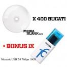 400 Bucati DVD-R Printabil Lucios Platinet Blank 16x 4.7GB + BONUS Memorie USB Philips 16GB