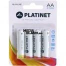 Baterii Alkaline AA LR06 Platinet 4 buc / set