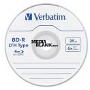 BluRay Disc BD-R Verbatim LTH 6x 25GB Blank