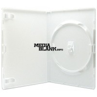 Carcasa 1 DVD Simpla Alba 14mm Amaray