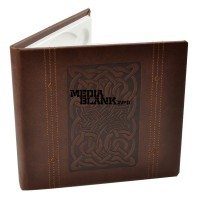 Carcasa 1 DVD Piele Ecologica Maro Lux cu model LINE