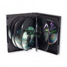 Carcasa 12 DVD Neagra 39mm cu 5 tavite