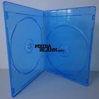 Carcasa Dubla 2 Blu Ray Disc Slim 7mm albastra