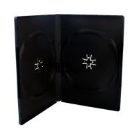 Carcasa 2 DVD Dubla Neagra 14mm Calitate Superioara