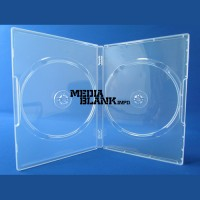 Carcasa 2 DVD Dubla Transparenta 14mm Super Clear
