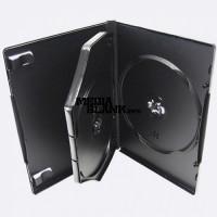 Carcasa 3 DVD Neagra 14mm cu tavita Calitate Superioara Nexpack