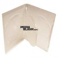 Carcasa 3 DVD Transparenta 14mm cu tavita Clear