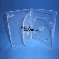 Carcasa 3 DVD Transparenta 14mm cu tavita Super Clear