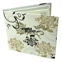 Carcasa 4 DVD Carton Alba cu magnet