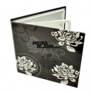 Carcasa 4 DVD Carton Neagra cu magnet