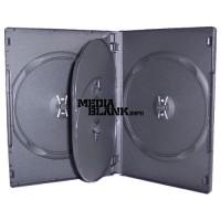 Carcasa 4 DVD Neagra 14mm cu tavita