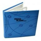 Carcasa 4 DVD Piele Ecologica Albastra Lux cu model stars