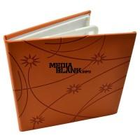 Carcasa 4 DVD Piele Ecologica Portocalie Lux cu model stars