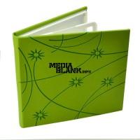 Carcasa 4 DVD Piele Ecologica Verde Lux cu model stars