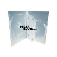 Carcasa 4 DVD Transparenta 14mm cu tavita Clear