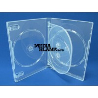 Carcasa 4 DVD Transparenta 14mm cu tavita Super Clear
