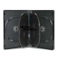 Carcasa 6 DVD Neagra 22mm cu 2 tavite