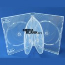Carcasa 6 DVD Transparenta Super Clear 22mm cu 2 tavite