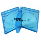 Carcasa 4 Blu Ray Disc 15mm albastra