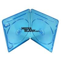 Carcasa Dubla 2 Blu Ray Disc 11mm albastra