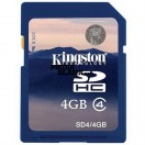 Card de memorie SDHC Kingston 4GB clasa 4 bulk