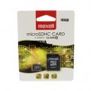 Card de memorie microSDHC Maxell 16GB clasa 10 cu adaptor SD