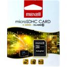 Card de memorie microSDHC Maxell 4GB clasa 10 cu adaptor SD