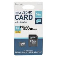 Card de memorie microSDHC Platinet 16GB clasa 10 cu adaptor SD