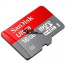 Card de memorie microSDHC UHS-I Sandisk 16GB clasa 10 cu adaptor SD