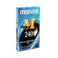 Caseta video VHS Maxell 240 minute