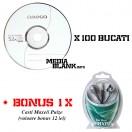 CD-R Omega 52x 700MB Blank 100 Bucati + BONUS Casti Maxell Pulze