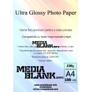 Hartie Foto Lucioasa Inkjet A4 230gsm 100 coli / set Glossy