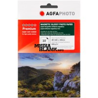 Hartie Foto Magnetica Lucioasa Agfa 10x15 680gsm 10 coli / set Glossy