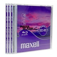 BluRay Disc BD-RE Rewritable Maxell 2x 25GB Blank 3 buc / set