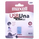 Memorie USB Maxell 4GB UNA Blue mini USB 2.0