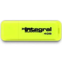 Memorie USB Integral 4GB Neon USB 2.0 Yellow