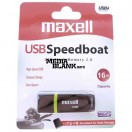 Memorie USB Maxell 16GB SpeedBoat USB 2.0 Black