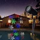 Proiector LED RGB 4W de exterior fulgi de zapada